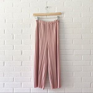 Pants - Pleated Spring Pink Cropped Pants XS like Zara
